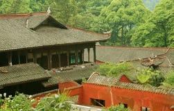 瓷emeishan fuhu修道院 图库摄影