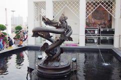 瓷expo2010亭子上海泰国 免版税库存照片