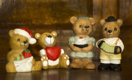瓷figurins熊家庭 库存图片