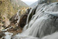 瓷jiuzhai瀑布 库存照片