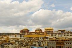 瓷la修道院shangri songzanlin藏语 免版税库存图片