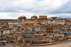 瓷la修道院shangri songzanlin藏语 库存照片