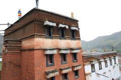 瓷labrang寺庙藏语 库存照片
