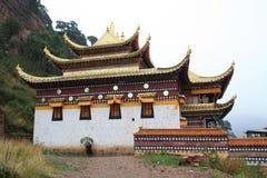瓷langmu寺庙藏语 免版税库存图片