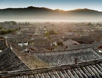 瓷lijiang老城镇云南 免版税库存照片