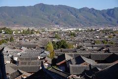 瓷lijiang老城镇云南 库存照片