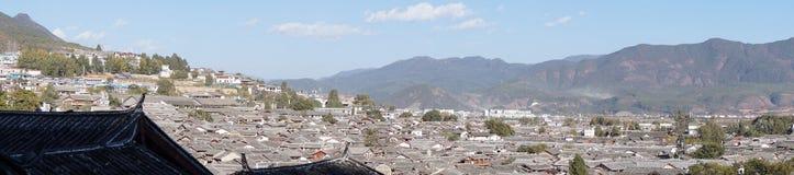 瓷lijiang老城镇云南 免版税库存图片
