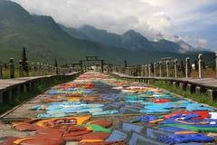 瓷lijiang naxi村庄 库存照片
