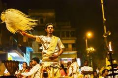 甘加Aarti在瓦腊纳西 免版税库存照片