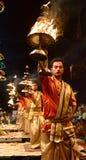甘加Aarti在瓦腊纳西 免版税库存图片