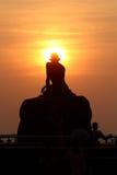 甘地的日落 免版税库存图片
