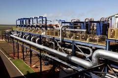 甘蔗工业磨房加工设备在巴西 免版税库存图片