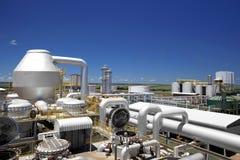 甘蔗工业磨房加工设备在巴西 免版税库存照片