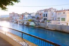 甘迪亚口岸巴伦西亚日落地中海西班牙 免版税图库摄影