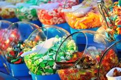 甜五颜六色的糖果 库存照片