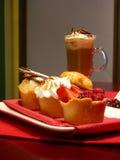 甜午餐微型的饼 库存照片