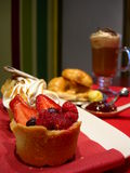 甜午餐微型的饼 免版税库存照片