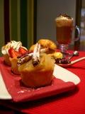 甜午餐微型的饼 免版税库存图片
