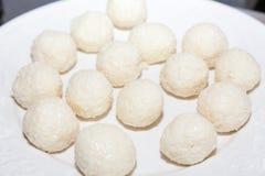 甜印地安椰子burfi 库存图片