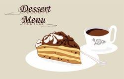 甜可口蛋糕用咖啡 库存照片