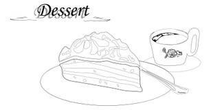 甜可口蛋糕用咖啡 免版税库存照片