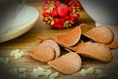 甜可食的装饰:巧克力片 向量例证