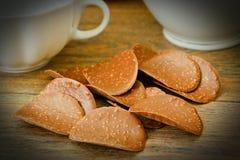 甜可食的装饰:巧克力片 皇族释放例证