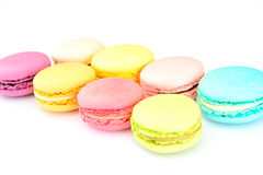 甜和五颜六色的法国蛋白杏仁饼干 图库摄影