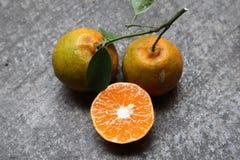 甜和新鲜的桔子 免版税库存图片