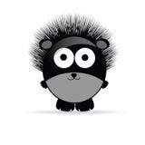 甜和滑稽的猬动物传染媒介illustrtion 免版税库存图片