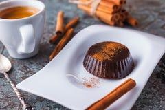 甜咖啡果冻是意大利点心 免版税库存照片