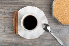 甜咖啡用桂香 库存照片