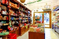 甜商店和比赛 免版税库存照片