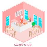 甜商店等量内部  库存照片