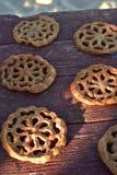 甜墨西哥食物曲奇饼酥皮点心Bunuelos 免版税库存照片