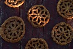甜墨西哥食物曲奇饼酥皮点心Bunuelos 免版税库存图片