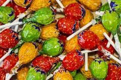 甜多彩多姿的糖果背景 免版税图库摄影