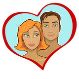 甜夫妇心脏 免版税库存照片