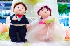 甜婚礼人和夫人玩偶 库存图片