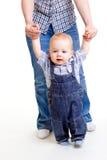 甜婴孩的步骤 库存图片
