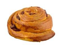 甜小圆面包用在白色背景隔绝的桂香 库存图片