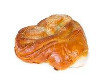 甜小圆面包用以心脏的形式糖 库存照片