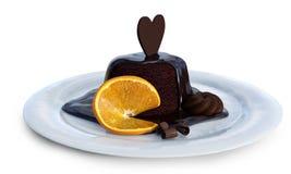 甜巧克力和桔子 免版税库存照片