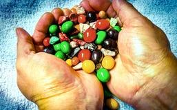 甜巧克力花生糖果 免版税库存照片