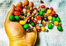 甜巧克力花生糖果 库存图片