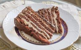 甜巧克力蛋糕 免版税库存照片