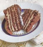 甜巧克力蛋糕 免版税库存图片