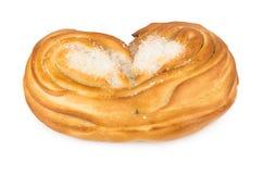 甜开胃小圆面包用糖在形式心脏 免版税库存图片