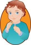 甜微笑的孩子 免版税库存图片