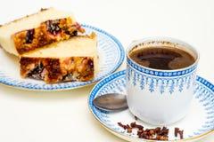 甜早餐用咖啡 免版税库存照片